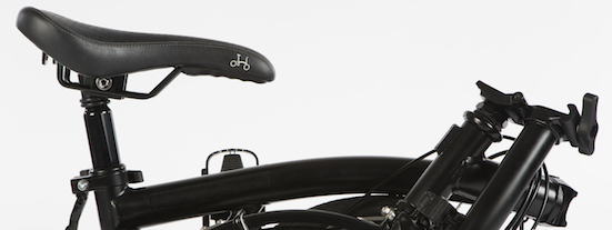 Close up of the Brompton black edition